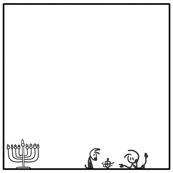 weekly stick figure web comic Hanukkah Out of the Box 314 Tell Your Friend Veronica