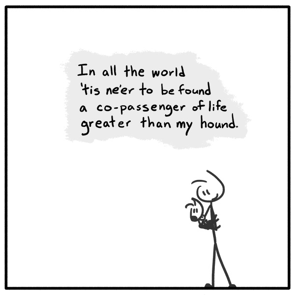 Out of the Box weekly stick figure web comic 319 Pup Poetry