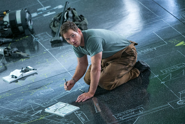 Passengers movie Chris Pratt drawing