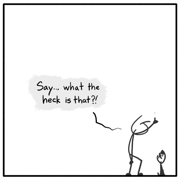 Out of the Box weekly stick man web comic 326 Distracting Dot