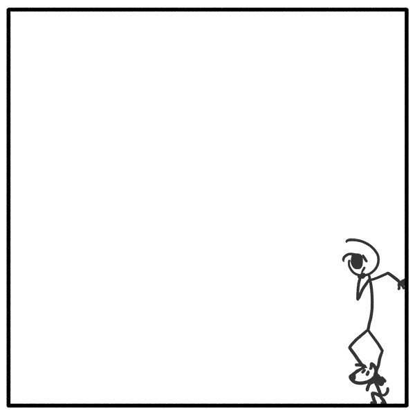 Out of the Box weekly stick figure web comic 331 Ever Seen The Back Of A Dot?
